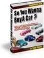 So you wanna buy a car
