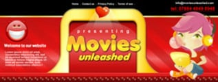 Thumbnail Movie Website Header Template