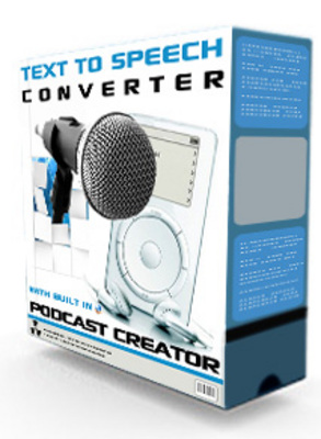 Product picture Text 2 Speech Converter With Built in Podcast Creator